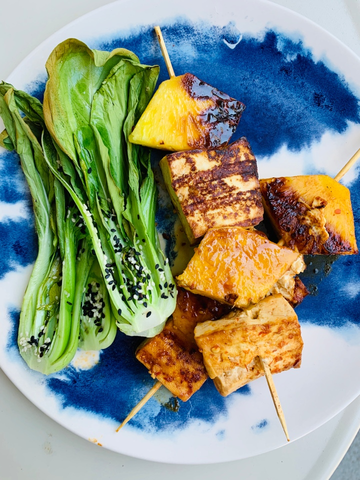 Tofu and Pineapple Summer Skewers