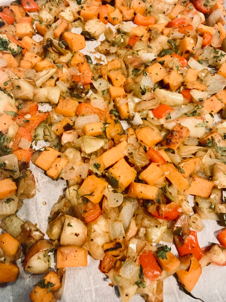 Apple, Sweet Potato and Jalapeno Hash