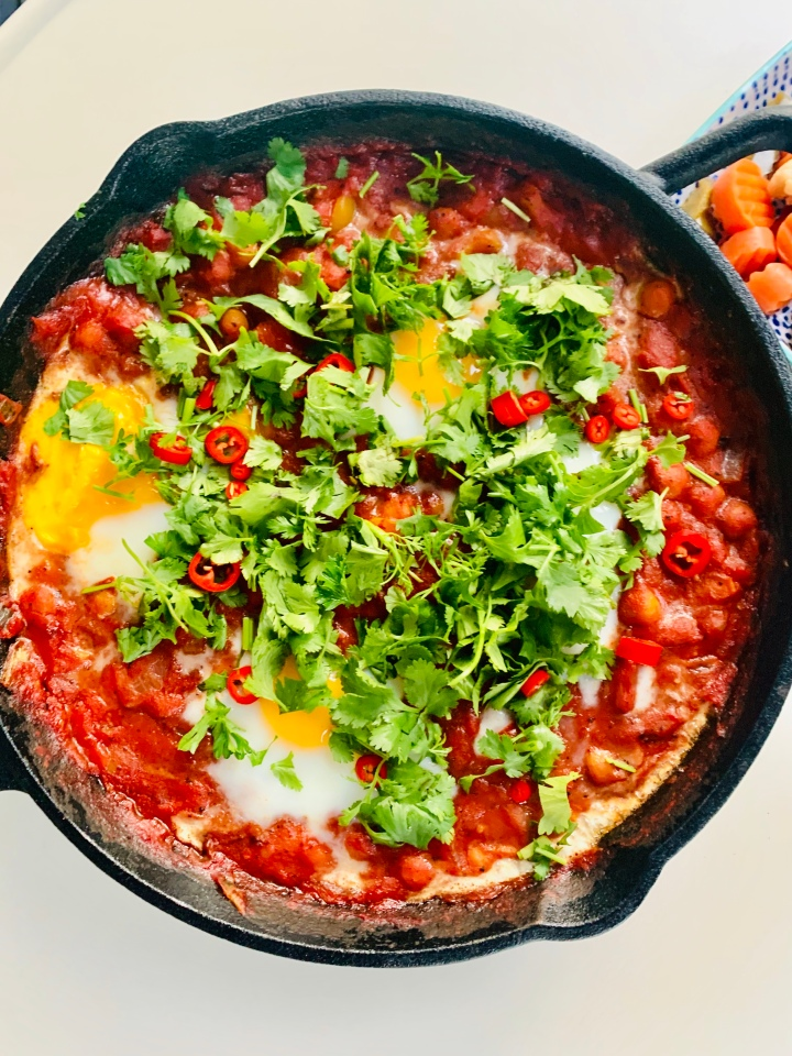 Feta and Chickpea Shakshuka