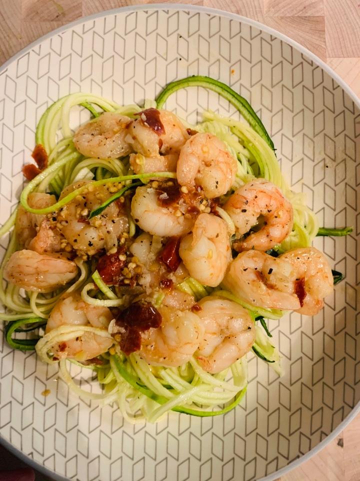 Shrimp Scampi with ZucchiniNoodles